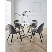 Estelle Table with 4 Klara Chairs.