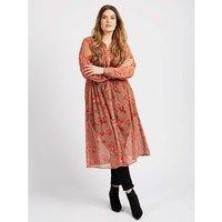 Koko Floral Sheer Maxi Shirt Dress