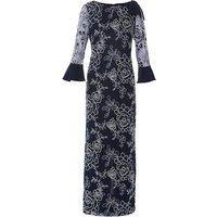 Gina Bacconi Taryn Embroidery Maxi Dress