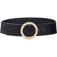 Waist Belt With Pearl Buckle