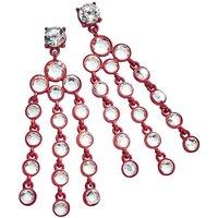Red Rhinestone Earrings.