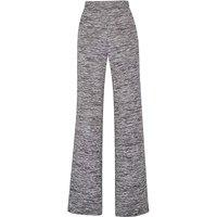 Wide Leg Stretch Jersey Trousers Reg