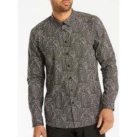 Black Label Dark Paisley Shirt Reg
