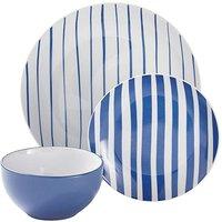 Nautical Stripe 12-Piece Dinner Set