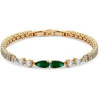 Jon Richard Emerald Green Pear Bracelet