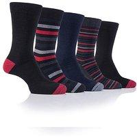 5 Pack Farah Patterned Box Socks