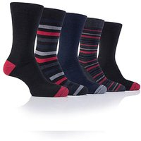 5 Pack Farah Patterned Box Socks
