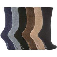6 Pair Gentle Grip Plain Socks