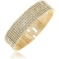 Crystal Glitz Gold Plated Bracelet