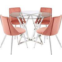 Estelle Table 4 Anais Velvet Chairs.