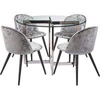 Orion Table & 4 Palazzo Dining Chairs.