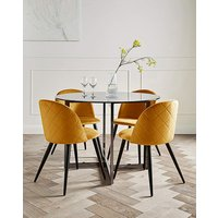 Orion Dining Table & 4 Klara Chairs.