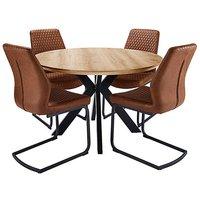 Austin Circular Table 4 Houston Chairs.