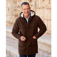 'Premier Man Brown Fleece Duffle Coat
