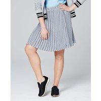Print Pleated Mini Skirt