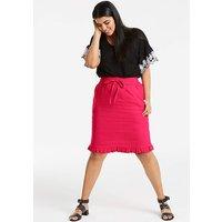 Linen Rich Frill Hem Skirt