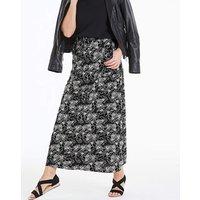 Petite Floral Linen Mix Maxi Skirt