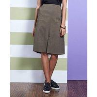 Stretch Split Front Skirt