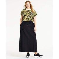 Petite Easy Care Linen Mix Maxi Skirt