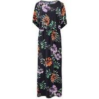 Printed Split Sleeve Maxi Dress