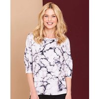 Marble Print Wrap Back Top