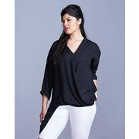 Simply Be Asymmetric Wrap Blouse