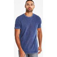 Jacamo Washed Muscle Fit T-Shirt Long