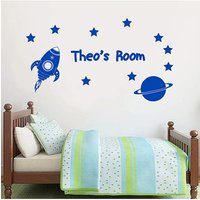 Personalised Rocket Wall Sticker