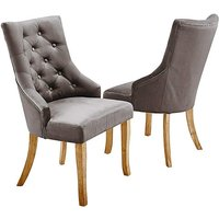 Pair of Isabella Fabric Dining Chairs.