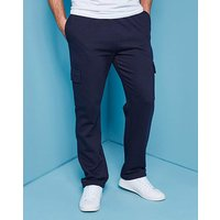 Navy Cargo Trousers 31in