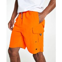 Orange Long Swimshorts
