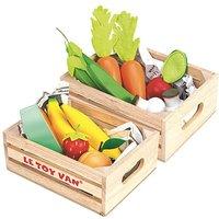 Image of Le Toy Van Vegetables & Fruits Crate Set
