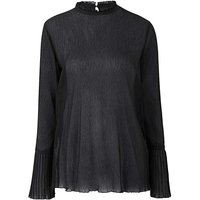 Black Soft Pleated Top