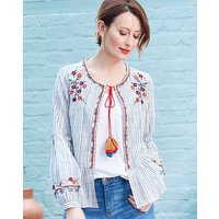 Petite Mono Embroidered Cover Up