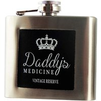 Leather Inlay 5oz Hip Flask