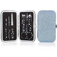 Blue Glitter Manicure Set