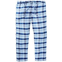 Capsule Blue Check Woven Lounge Bottoms