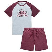 Capsule Grey Raglan Shorts PJ Set
