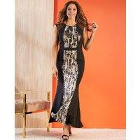 Joanna Hope Sequin Snakeskin Maxi Dress