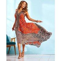 Joanna Hope Stud High Low Maxi Dress