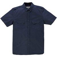 Jacamo S/S Navy Military Shirt Regular