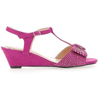 Bow Detail Wedge Sandals E Fit