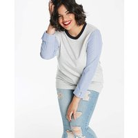 2 in 1 Ticking Sleeve Sweatshirt