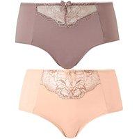 2 Pack Ella Lace Blush/mocha Shorts
