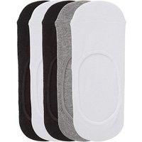 5 Pack Footsies- Wide Fit Black/grey