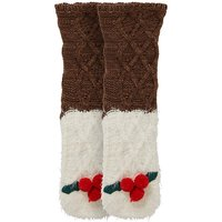 1 Pack Christmas Pudding Knitted Socks