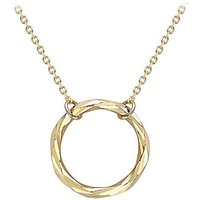 9Ct Gold Ring Necklace.