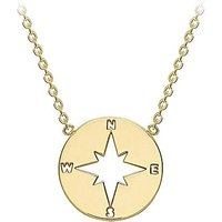 9Ct Gold Compass Necklace.