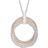 9Ct Gold CZ Rings Necklace.
