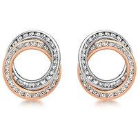 9Ct Gold CZ Rings Stud Earrings.